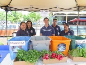 urban agriculture students at Danbury Farmers' Market