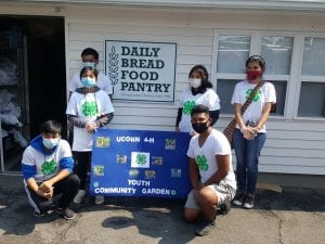 4-h youth at food pantry