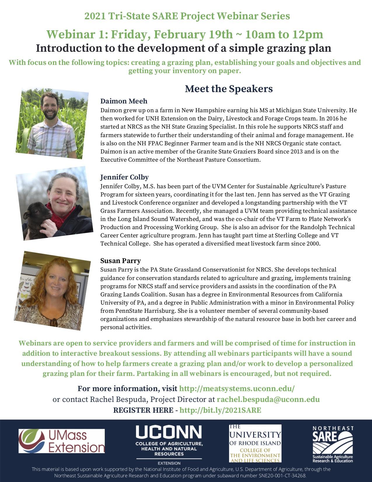 2021 Tri-State SARE Project Webinar Series information
