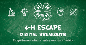4-H Escape Room banner photo