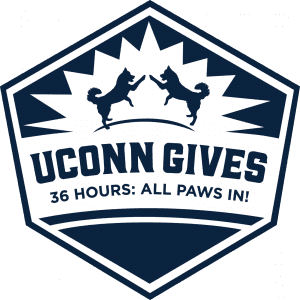 UConn Gives All Paws In logo