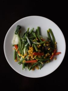 vegetables on a white dinner plate