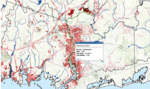 map with a lot of red areas on it where there is nitrogen pollution