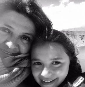 Monica Jimenez selfie with daughter