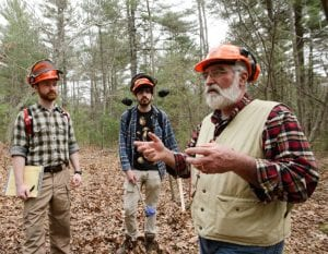 Tom Worthely and other instructors in the woods